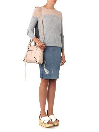Vince Colour-block cashmere sweater