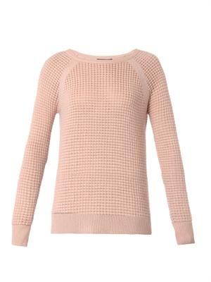 Cashmere-blend thermal sweater
