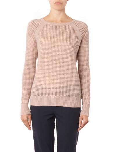 Vince Cashmere-blend thermal sweater