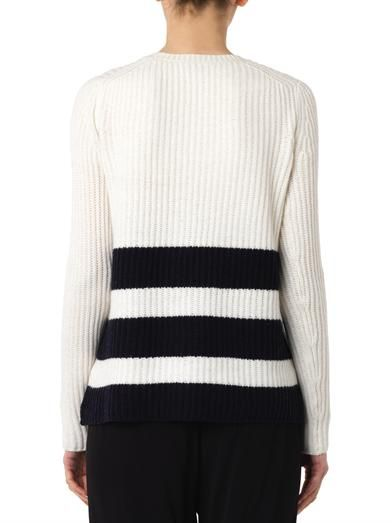 Vince Striped wool and cashmere-blend sweater