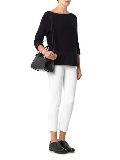 Vince Foil contrast ribbed-knit sweater