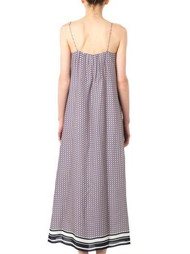 Vince Star-print silk maxi dress