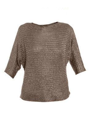 Metallic knitted sweater