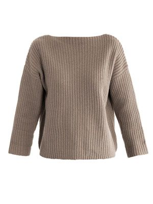 Boat-neck sweater