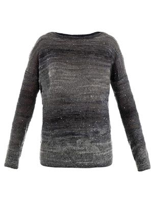 Space dye embellished sweater