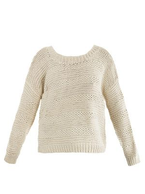 Textured hand-knit sweater