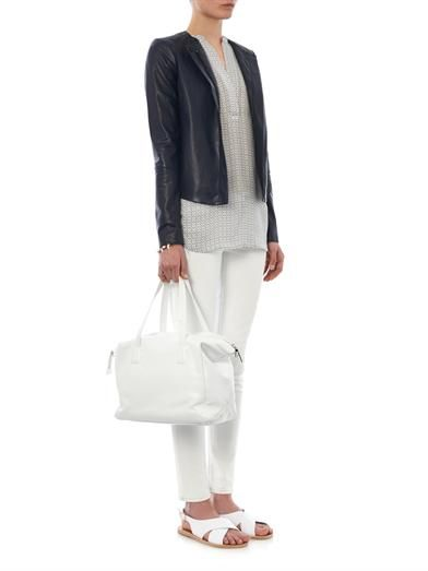 Vince Perforated leather jacket