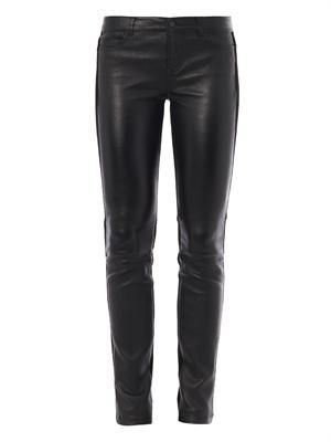 Suede and leather trousers