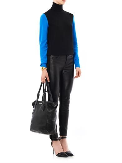 Vince Suede and leather trousers