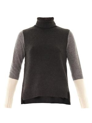 Colour-block wool sweater