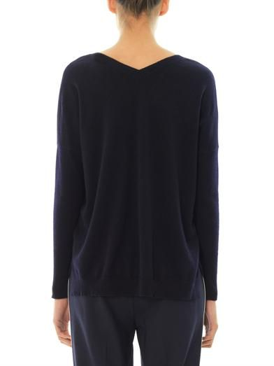 Vince Double V-neck cashmere sweater