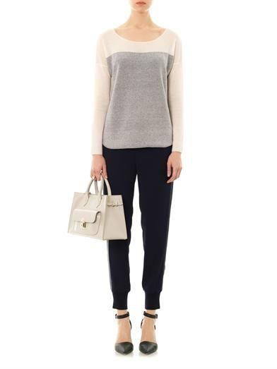 Vince Colour-block fine-knit cashmere sweater