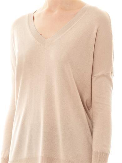 Vince V-neck silk and cashmere-blend sweater