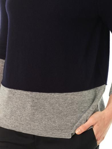 Vince Colour-block cashmere sweater
