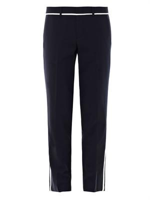Contrast stripe wool trouser