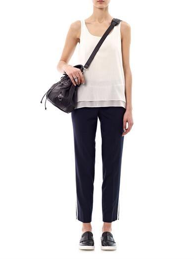 Vince Contrast stripe wool trouser