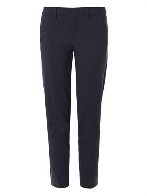 Side-stripe skinny trousers