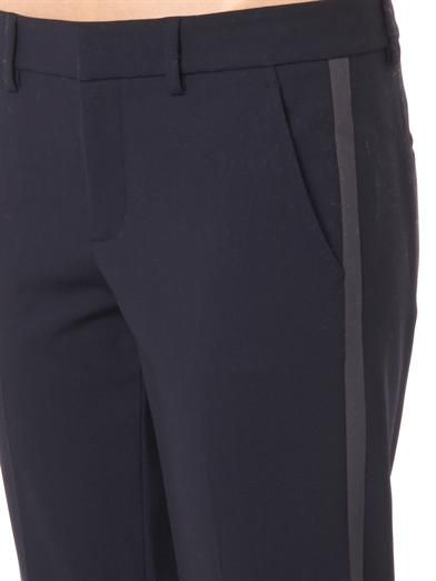 Vince Side-stripe skinny trousers