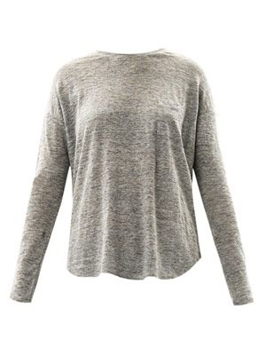 Linen long-sleeve T-shirt