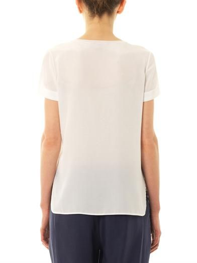 Vince Silk-panel T-shirt