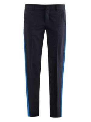 Tropical wool tuxedo trousers