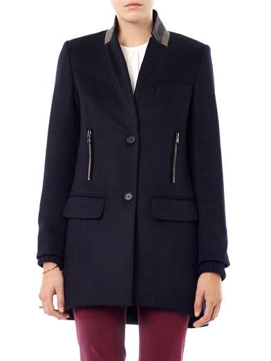 Veronica Beard Removable dickie single-breasted coat