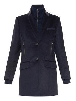 Uptown dickey wool car coat