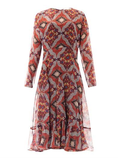 Veronica Beard Bonfire bandana-print prairie dress