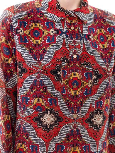 Veronica Beard Bonfire bandana-print silk blouse