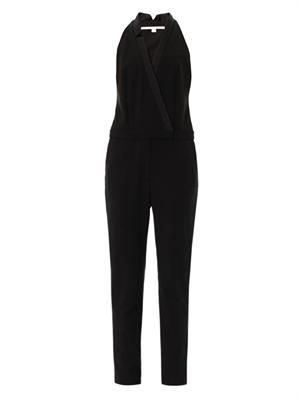Tuxedo sleeveless crepe jumpsuit | Veronica Beard | MATCHESFAS...