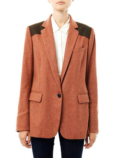 Veronica Beard Removable Dickie herringbone blazer