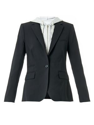 Hooded Dickey tailored jacket
