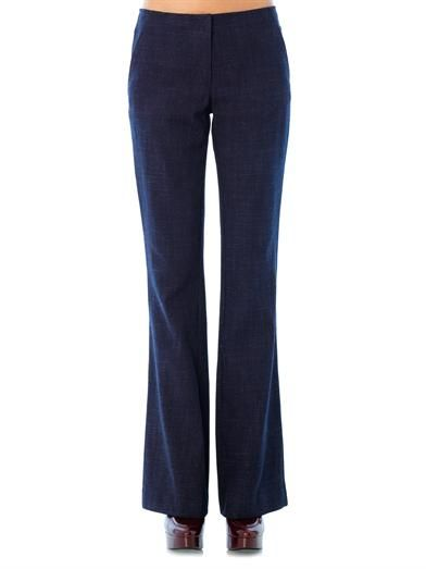 Veronica Beard High-rise wide-leg trousers