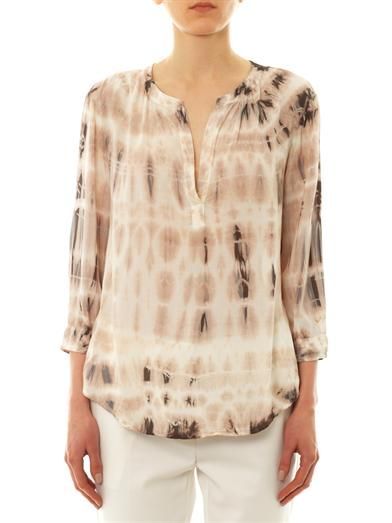 Velvet by Graham & Spencer Serenity tie-dye blouse