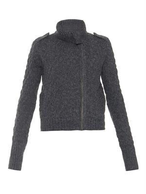 Jobeth chunky-knit jacket