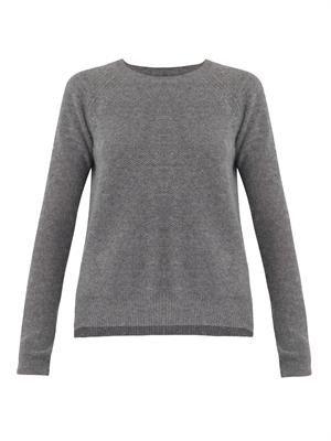 Alba waffle-knit cashmere sweater