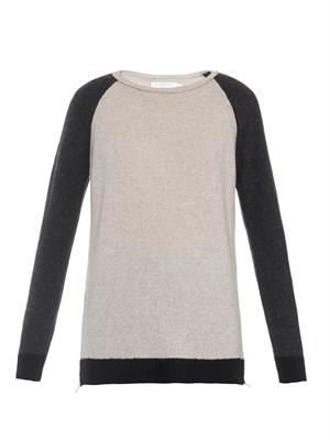 Vashti bi-colour cashmere sweater