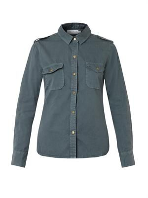 Roxy cotton-twill shirt