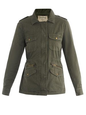 Lily Aldridge Army jacket