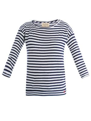 Lily Aldridge stripe T-shirt