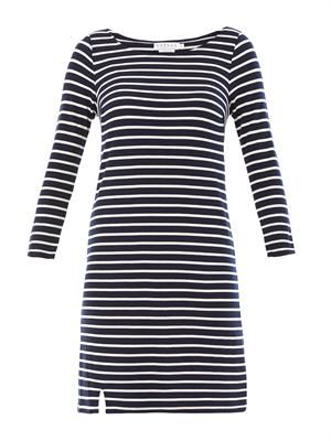 Yennie ponti stripe dress
