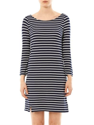 Velvet by Graham & Spencer Yennie ponti stripe dress