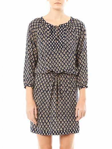 Velvet by Graham & Spencer India Challis Henley dress