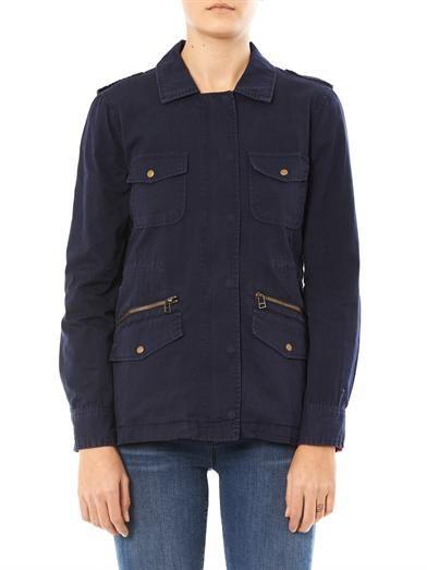 Velvet by Graham & Spencer Cotton safari  jacket