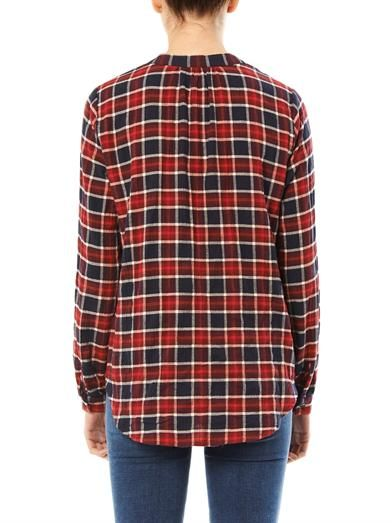 Velvet by Graham & Spencer Henley plaid blouse
