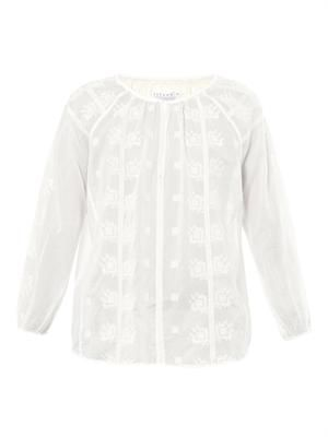 Linda embroidered cotton top