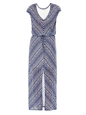 Aztec stripe maxi dress