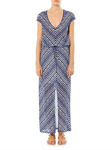Velvet by Graham & Spencer Aztec stripe maxi dress