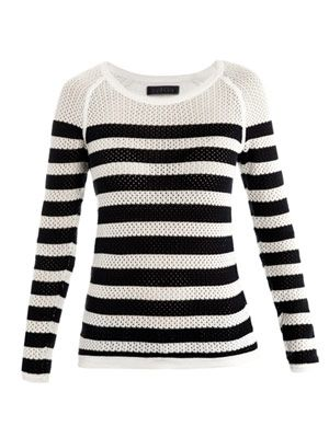 Stripe crochet sweater