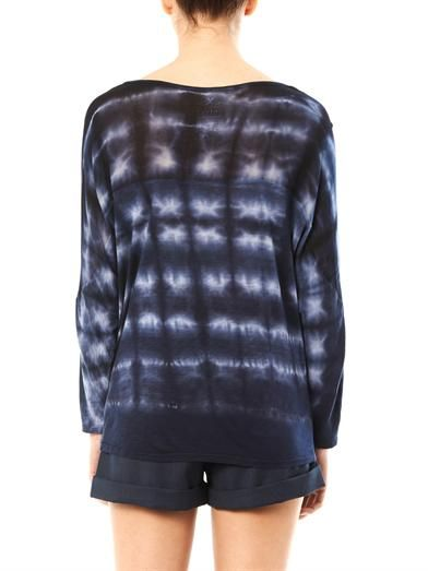 Velvet by Graham & Spencer Tie dye sheer panel top